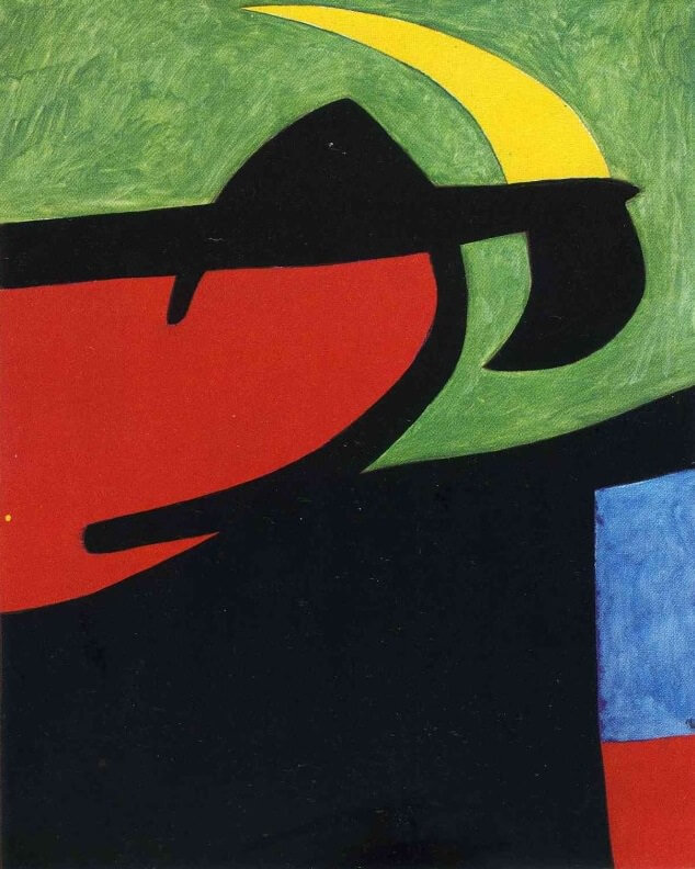 Catalan Peasant in the Moonlight, 1968 by Joan Miro