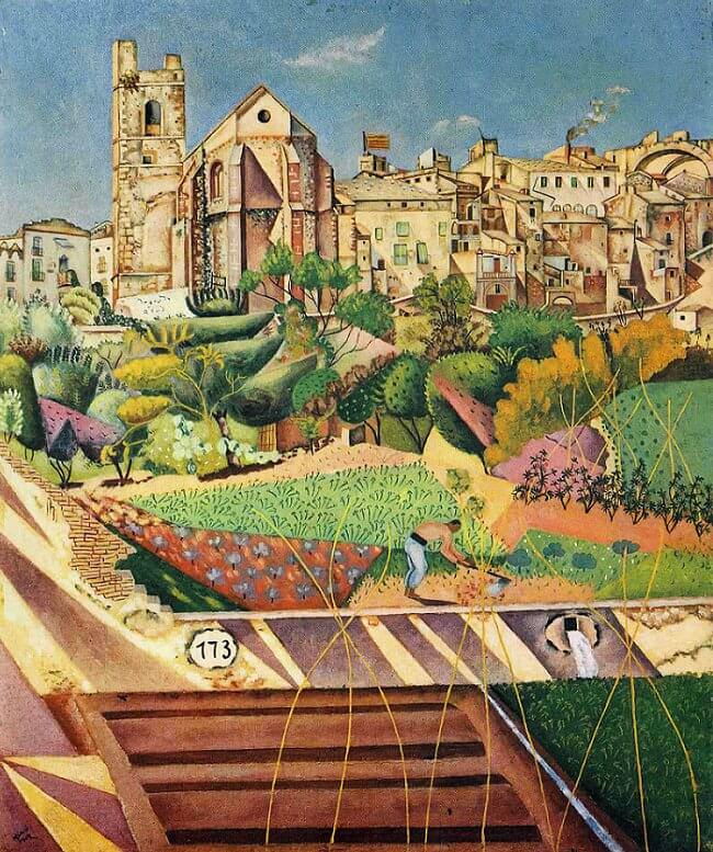 Montroig: Village and Church, 1919 by Joan Miro