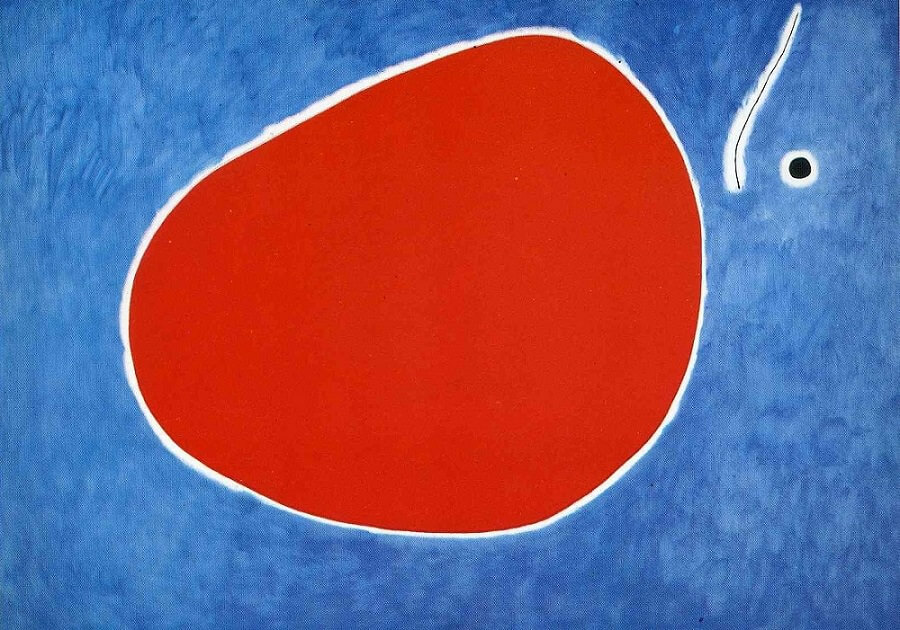 The Flight of the Dragonfly in Front of the Sun, 1968 by Joan Miro