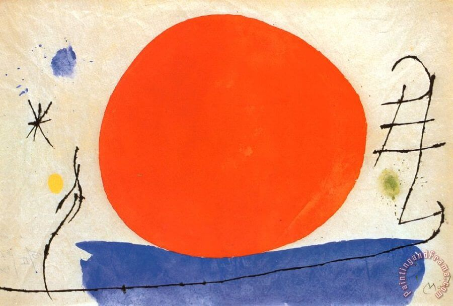 The Red Sun, 1950 by Joan Miro