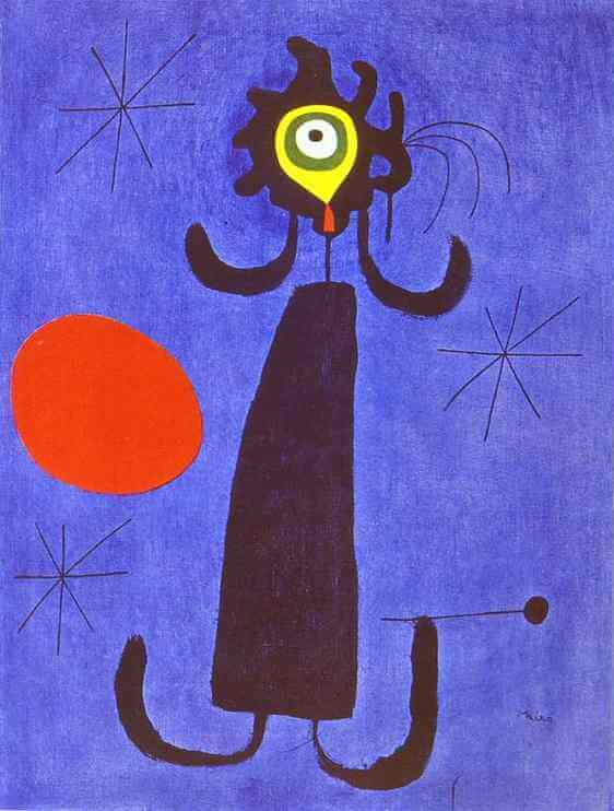 Woman in Front of the Sun, 1950 by Joan Miro