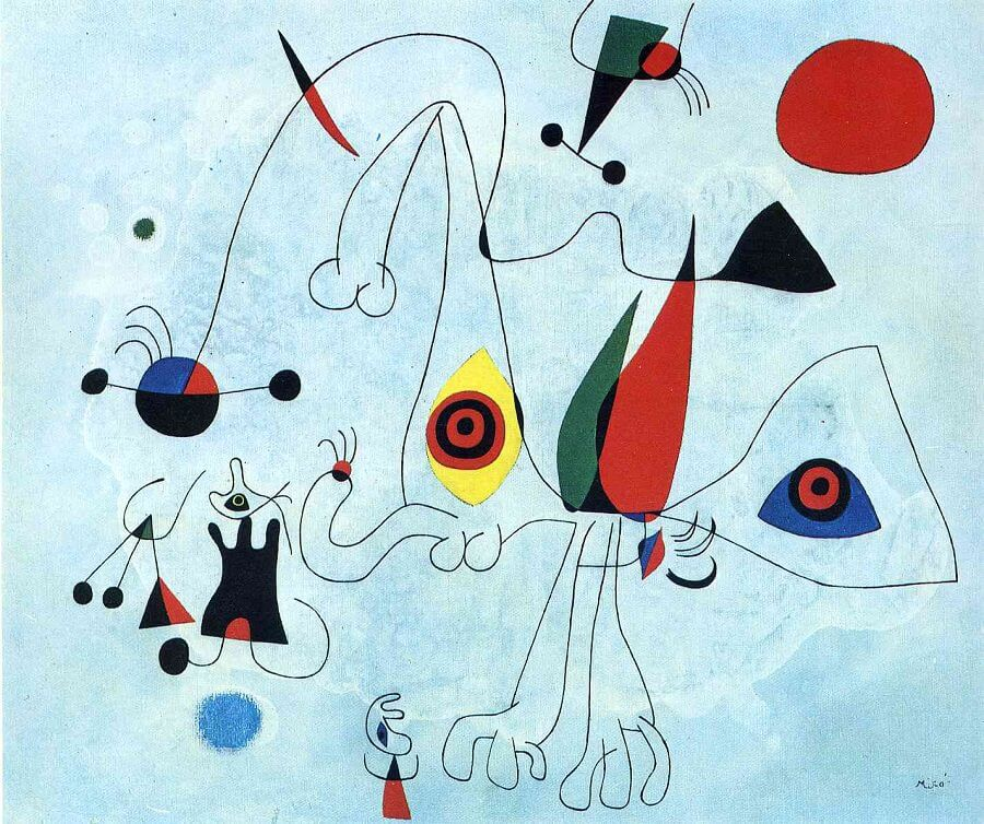 Women and Birds at Sunrise, 1946 by Joan Miro
